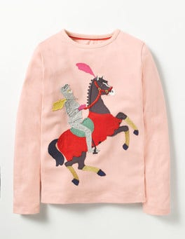 Provence Dusty Pink Horse Magical Appliqué T-shirt