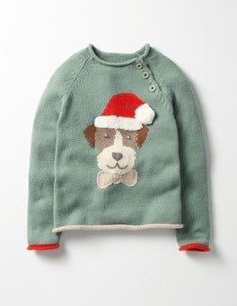 Csarite Green Sprout Christmas Spirit Sweater