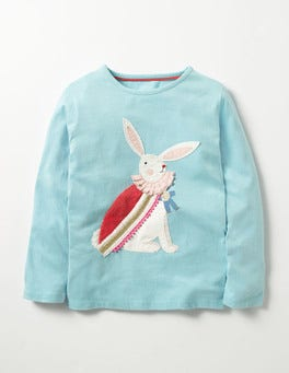 Frost Blue Bunny Pretty Festive T-shirt
