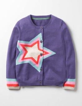 Misty Purple Star Rainbow Star Cardigan
