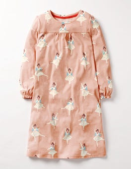 Pink Christmas Angel Printed Nightie