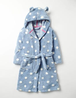 Wren Blue Spot Cosy Dressing Gown