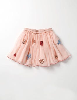 Provence Dusty Pink Appliqué Party Skirt