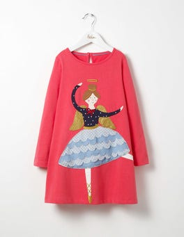 Pink Berry Dancer Festive Jersey Dress
