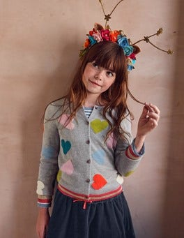 Rainbow Hearts Cardigan