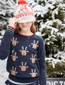 Reindeer Pompom Sweater