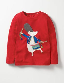 Ladybird Red Mouse Drummer Christmas Storytelling T-shirt