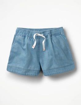 Light Vintage Heart Pocket Shorts