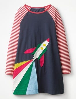 Rocket Appliqué Dress