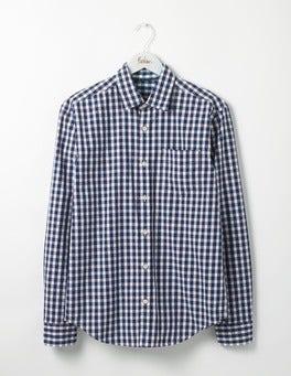 Blues Colour Pop Gingham Poplin Pattern Shirt