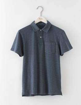 London Grey Slub Polo