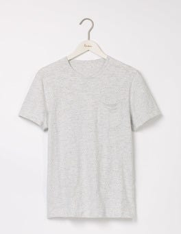 Multi Pale Grey Marl Slub Crew
