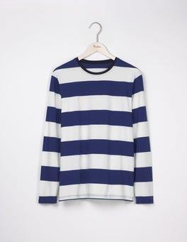 Royal Marine/Ecru Long Sleeve Stripe T-shirt