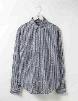 Blues Geo Printed Twill Shirt