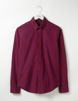 Engineered Pattern Slim Fit Casual Pattern Shirt