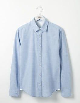 Blue End on End Slim Fit Poplin Shirt