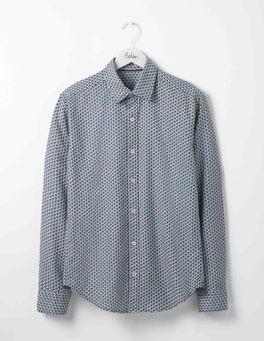 Blues Geo Slim Fit Printed Twill Shirt