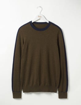 Military Green Farringdon Merino Crew