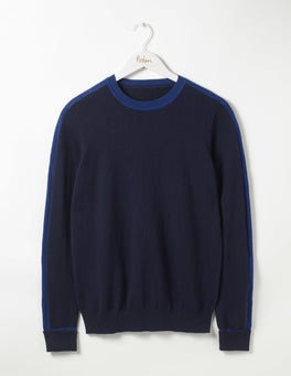 Navy Farringdon Merino Crew