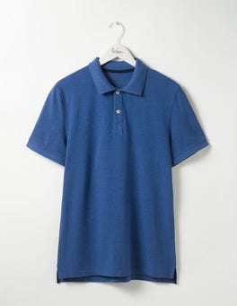 Winter Blue Marl Piqué Polo