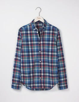 Heath Green Multi Check Slim Fit Casual Pattern Shirt