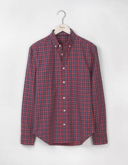 Gazpacho/Blue Marl Check Slim Fit Casual Pattern Shirt
