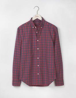 Gazpacho/ Blue Marl Check Slim Fit Casual Pattern Shirt