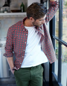 Slim Fit Casual Pattern Shirt