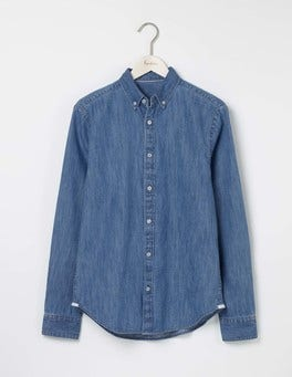 Washed Denim Indigo Shirt
