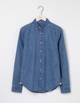 Washed Denim Indigo Shirt