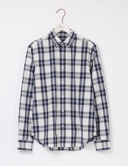Ecru/ Navy Check Indigo Shirt
