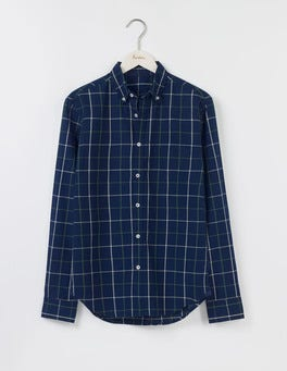 Indigo Windowpane Indigo Shirt
