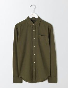Dark Olive Linen Cotton Shirt
