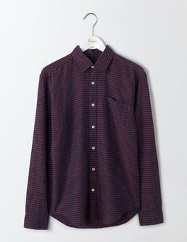 Gazpacho/Naval Blue Horizontal Linen Cotton Pattern Shirt
