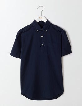 Navy Linen Cotton Popover