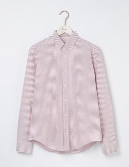 Fire Engine Stripe Classic Oxford Shirt