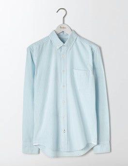 Sail Blue Stripe Slim Fit Oxford Shirt