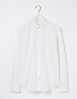 White Slim Fit Classic Oxford Shirt