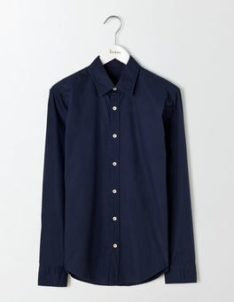 Navy Slim Fit Poplin Shirt
