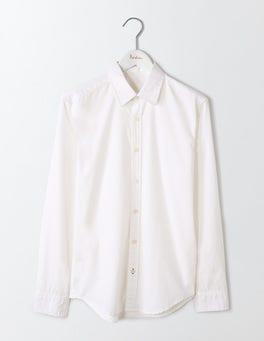 White Slim Fit Poplin Shirt