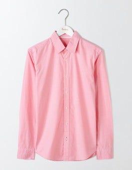 Pink Microgingham Slim Fit Poplin Pattern Shirt