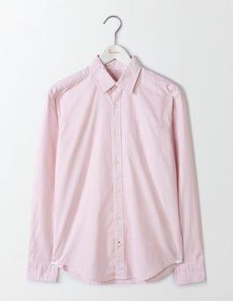 Fine Pink Stripe Poplin Pattern Shirt