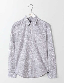 Ecru Linear Floral Printed Shirt