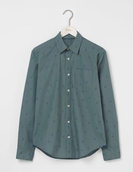 Heath Green Anchor Printed Shirt