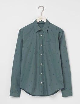 Heath Green Anchor Printed Shirt