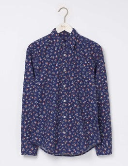 Naval Blue Multi Floral Printed Shirt