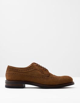Tan Suede Corby Brogue