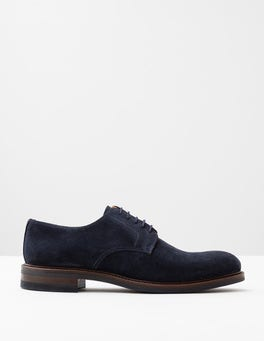 Navy Suede Corby Derby Shoe
