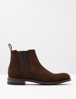 Chocolate Suede Corby Chelsea Boot