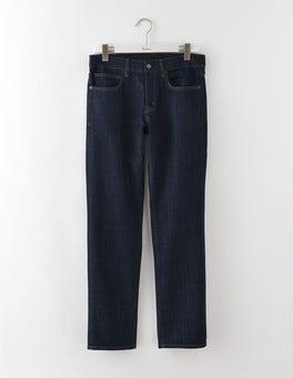 Dark Rinse Denim Straight Leg Jeans